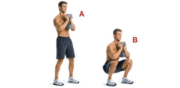 esercizio squat quadricipite