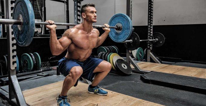 esercizio squat con bilanciere