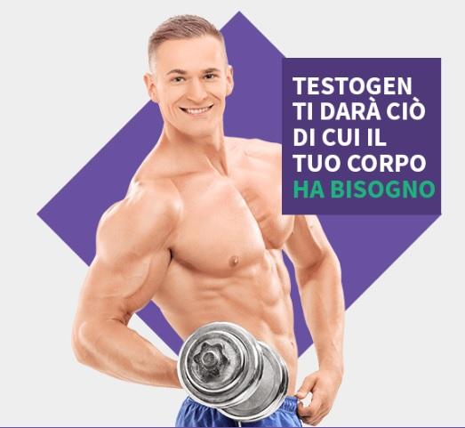 aumento massa muscolare testogen